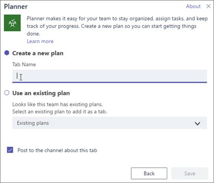 Añadir o usar un plan existente