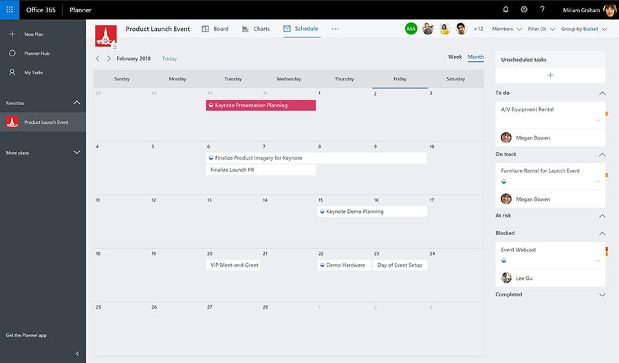 Microsoft Planner Schedule View